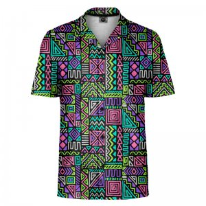Mr. Gugu & Miss Go Neo Aztec Short Sleeved Shirt SH-SHT1486