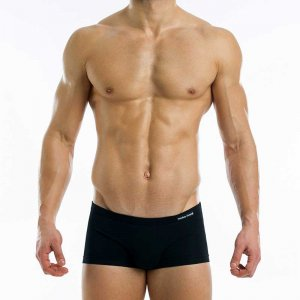 Modus Vivendi Antibacterial Brazil Cut Boxer Brief Underwear Black 15621