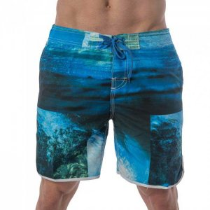 Lord Tropical Boardshorts Beachwear Blue MA003