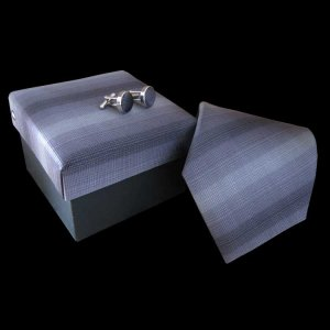 Distino Of Melbourne Shades Of Grey Silk Necktie Box Set 1