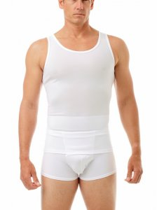 Underworks Shapewear Posture Corrector Tank Top T Shirt White 420100
