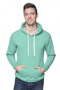 Royal Apparel Unisex Eco Triblend Fleece Pullover Hoody Long Sleeved Sweater Eco Tri Kelly 37055