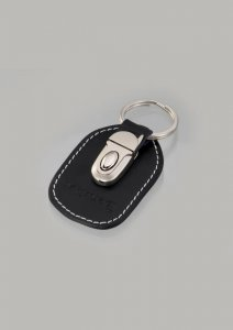 Geronimo Detachable Leather Key Ring Accessories Black 004