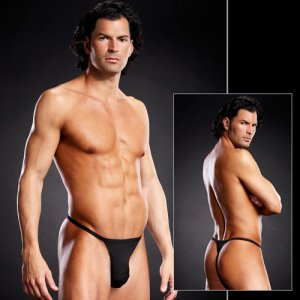 Blue Line Performance Microfiber T Back Thong Underwear Blac...