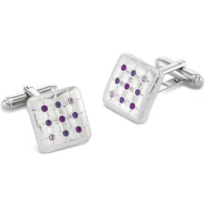 Duncan Walton Friston Cufflinks Purple C2722