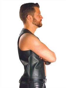 Mister B Leather Muscle Vest 130800