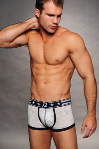 Pistol Pete Anthem Trunk Boxer Brief Underwear White UT404-28
