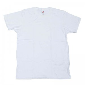 Hanes Nano Light Plain Short Sleeved T Shirt White 4980
