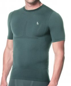 Lupo Compression Short Sleeved T Shirt Graphite 70040-1