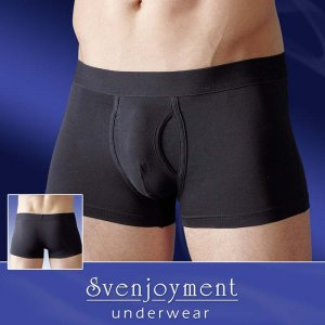 Svenjoyment Basic Fly Boxer Brief Underwear Black 2131684
