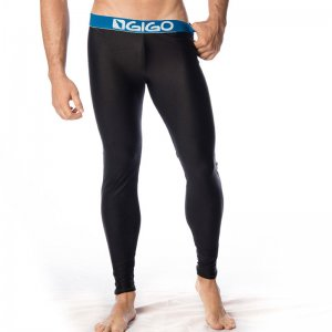 Gigo BLACK/BLUE Lycra Long Pants G18045