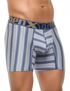 Xtremen Stripe Microfiber Boxer Brief Underwear Blue 51385