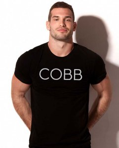 Alexander Cobb Solid Short Sleeved T Shirt Black 5C-11