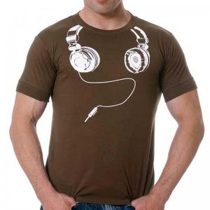 Good Boy Gone Bad DJ Short Sleeved T Shirt Brown