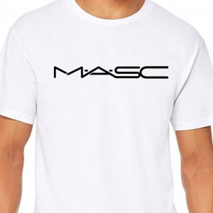 4 Labels MASC Short Sleeved T Shirt White/Black
