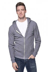 Royal Apparel Unisex Thermal Full Zip Hoody Long Sleeved Sweater Heather Charcoal 28050