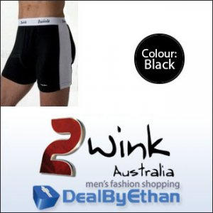 2wink Australia Solid Longbox Long Boxer Brief Underwear Black