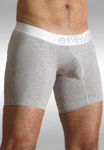 Ergowear Max Premium Midcut Long Boxer Brief Underwear Heather/White EMMP06G