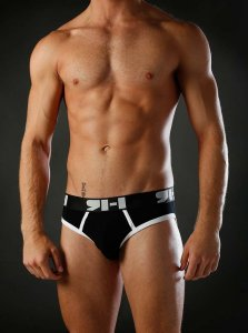 Richard Hunter Initial Brief Underwear Black 10004