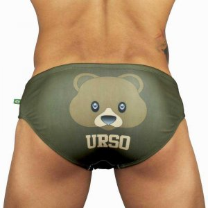 CA-RIO-CA Bear Urso Designer Sunga Brief Cut Bikini Swimwear CRC-S0409500