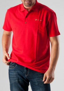 Geronimo Polo Short Sleeved Shirt Red 277