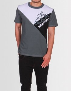 Kear&Ku Asymmetric Short Sleeved T Shirt Grey