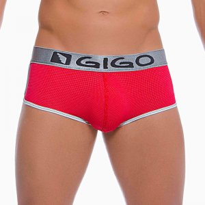 Gigo PUNT RED Short Boxer Underwear G02087-RED