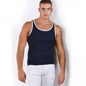 Roberto Lucca Contrast Trim Tank Top T Shirt Deep Blue 80001-01080