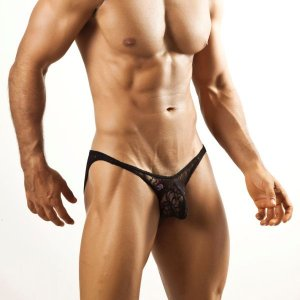 Joe Snyder Bulge Full Bikini BUL04 Lace Black Underwear