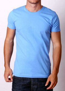 By The People Premium Basic Short Sleeved T Shirt Blue