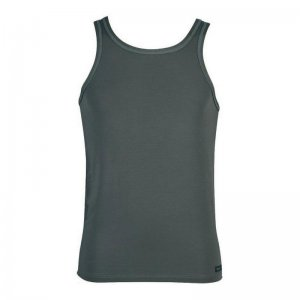 Minerva Tencel Vest Muscle Top T Shirt Graphite 11076