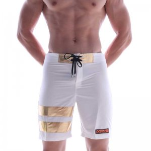 MIIW Physique Crown Boardshorts Beachwear White/Gold 4706-36