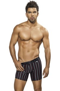 Xtremen Stripe Microfiber Boxer Brief Underwear Black 51311