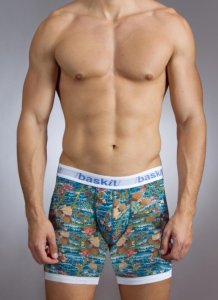Baskit Body Art Boxer Brief Underwear Cyan 5550