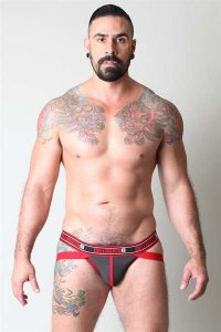 CellBlock 13 Ninja Neoprene Jock Strap Underwear Red CBU055