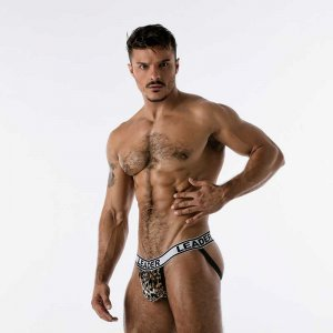 Leader Barcelona Hunter Jock Strap Underwear Leopard 19522