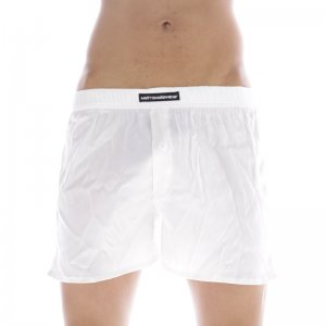 MIIW Silk Satin Loose Boxer Shorts Underwear White S33-00