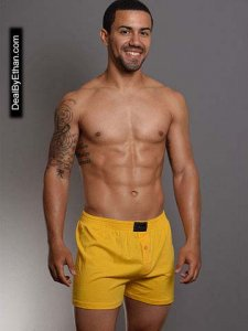 Doreanse Homey Loose Boxer Shorts Underwear Yellow 1511