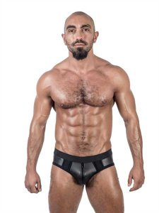 Mister B Neoprene Jock Brief Jock Strap Underwear Black 3401...