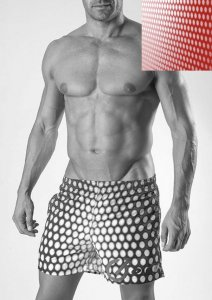 Geronimo Shorts Swimwear Red 1535P1-1