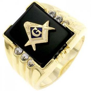 J Goodin Masonic Men's Ring R06239G-V01