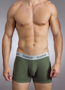Baskit Action Cool All Mesh Boxer Brief Bronze Green Underwear M3500