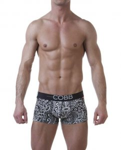 Alexander Cobb Maori Tattoo Short Boxer Brief Underwear Black/White 4CBS-13