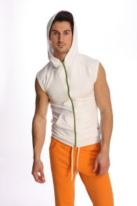 4-rth Yoga Hoodie Sleeveless Sweater White