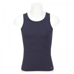 Minerva Sporties Bamboo Vest Muscle Top T Shirt Navy 10720