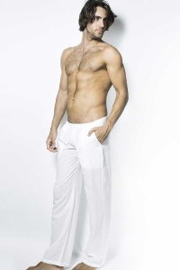 L'Homme Invisible Shri Lounge Pants White HW124-LOU-002