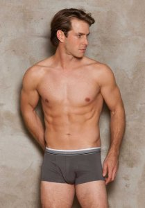 iCollection Modal Boxer Brief Underwear Steel 8804