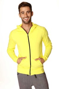 4-rth Crossover Hoodie Long Sleeved Sweater Tropic Yellow/White