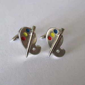 Distino Of Melbourne Novelty Paint Pallet Cufflinks CPAINT
