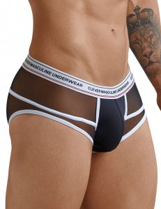 Clever Asian Piping Brief Underwear Black 5374